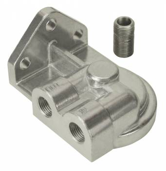 "Derale Performance - Derale Single Left 3/8"" NPT Port Filter Mount with 3/4""-16 Filter Threads"