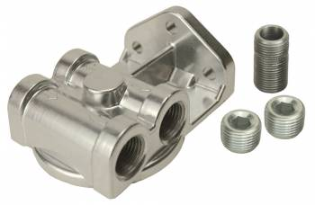 "Derale Performance - Derale Single Side Ports 1/2"" NPT Filter Mount with 13/16""-16 Filter Threads"
