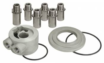"""Derale Performance - Derale Universal Thermostatic Sandwich Adapter with 3/8"""" NPT Ports"""