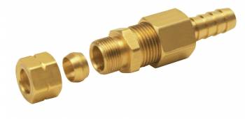 "Derale Performance - Derale Universal 3/8"" Transmission Cooler Line to 3/8"" Hose Barb Compression Fitting"