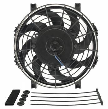 "Derale Performance - Derale 9"" Tornado Electric Puller Fan, Standard Mounting Kit - W-9-1/2"" x H-10-1/4"" x D-2-1/2"""