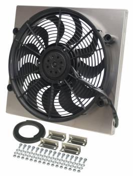 "Derale Performance - Derale High Output Single 17"" Electric RAD Fan/Aluminum Shroud Kit"