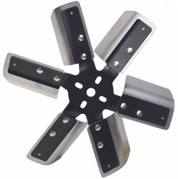 """Derale Performance - Derale 13"""" Heavy Duty Stainless Steel Standard Rotation Flex Fan, Black Hub"""