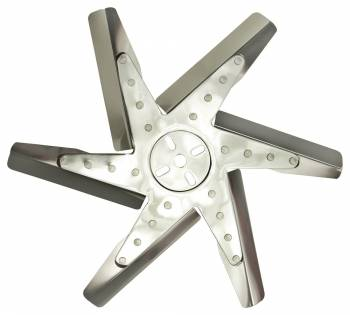 "Derale Performance - Derale 17"" High Performance Stainless Steel Reverse Rotation Flex Fan, Chrome Hub"