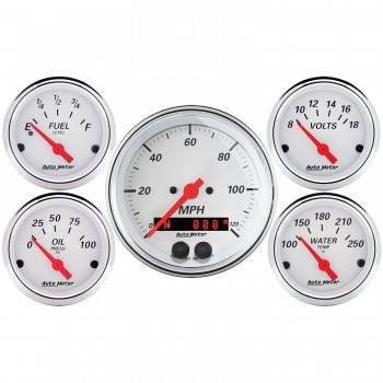 Auto Meter - Auto Meter Arctic White Gauge Kit - w/GPS Speedometer