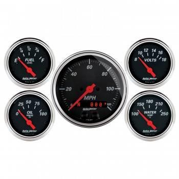 Auto Meter - Auto Meter Designer Black Gauge Kit - w/GPS Speedometer