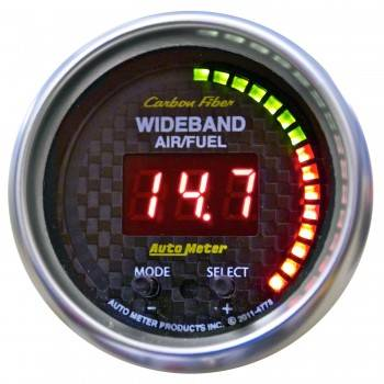 "Auto Meter - Auto Meter 2-1/16"" Carbon Fiber Air/Fuel Ratio Gauge - Wideband 6:1-20:1"