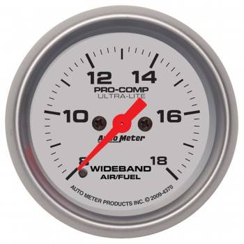 "Auto Meter - Auto Meter 2-1/16"" Ultra-Lite Wideband Air /Fuel Gauge - Analog"