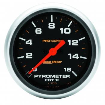 "Auto Meter - Auto Meter 2-5/8"" Pro-Comp 0-1600° Pyrometer"