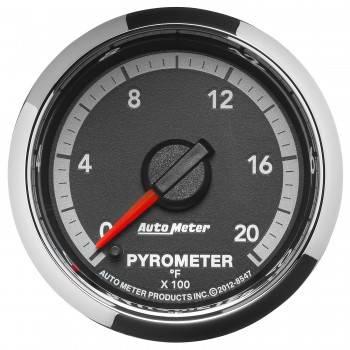 """Auto Meter - Auto Meter 2-1/16"""" Pyrometer Gauge - 0-2000° - Gen 4 Dodge Factory Match"""