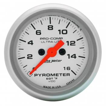 "Auto Meter - Auto Meter 2-5/8"" Ultra-Lite 0-1600° Pyrometer"