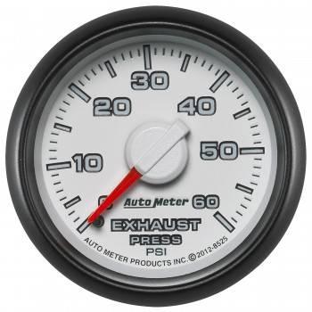 """Auto Meter - Auto Meter 2-1/16"""" Exhaust Pressure Gauge - 0-60 PSI - Dodge Match"""