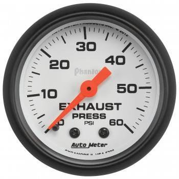 """Auto Meter - Auto Meter 2-1/16"""" Exhaust Pressure Gauge - 0-60 PSI - Phantom Series"""
