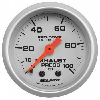 """Auto Meter - Auto Meter 2-1/16"""" Exhaust Pressure Gauge - 0-100 PSI - Ultra-Lite"""