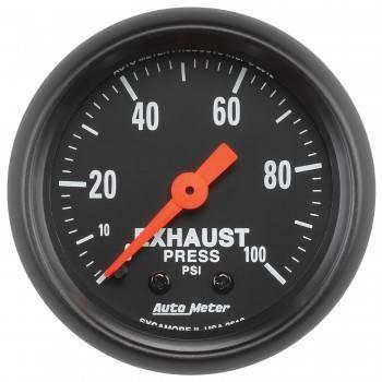 """Auto Meter - Auto Meter 2-1/16"""" Exhaust Pressure Gauge - 0-100 PSI - Z-Series"""