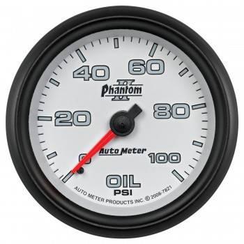 "Auto Meter - Auto Meter 2-5/8"" Phantom II Oil Pressure Gauge - 0-100 PSI"
