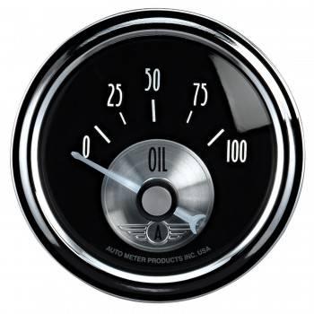 "Auto Meter - Auto Meter 2-1/16"" B/D Oil Pressure Gauge - 0-100 PSI"