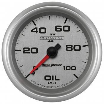 "Auto Meter - Auto Meter 2-5/8"" Ultra-Lite II Oil Press Gauge - 0-100 PSI"