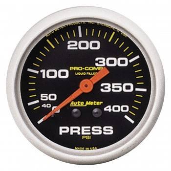 """Auto Meter - Auto Meter 2-5/8"""" Pro-Comp Pressure Gauge - 0-400 PSI"""