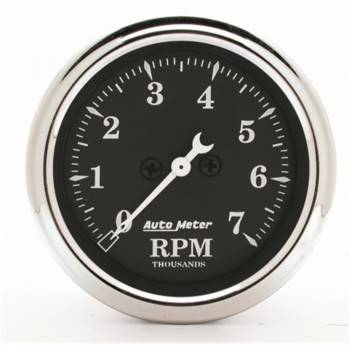 "Auto Meter - Auto Meter 2-1/16"" Tachometer - In-Dash - 7000 RPM - Old Tyme Black"
