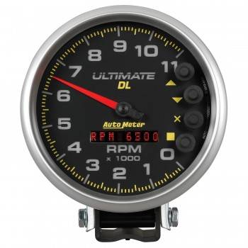 "Auto Meter - Auto Meter 5"" Ultimate DL Tach - 11000 RPM Black"