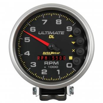 "Auto Meter - Auto Meter 5"" Ultimate DL Tach - 9000 RPM Black"