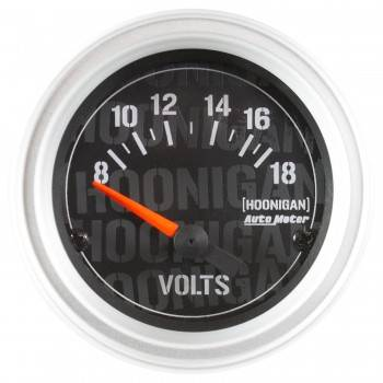 """Auto Meter - Auto Meter 2-1/16"""" Voltmeter Gauge - Hoonigan Series"""