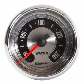 """Auto Meter - Auto Meter 2-1/16"""" American Muscle Water Temp Gauge - 100-260°"""