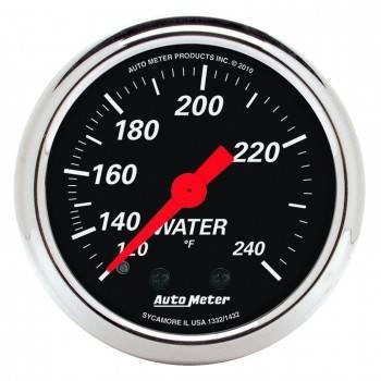 "Auto Meter - Auto Meter 2-1/16"" Designer Black Water Temp Gauge - 120-240°"