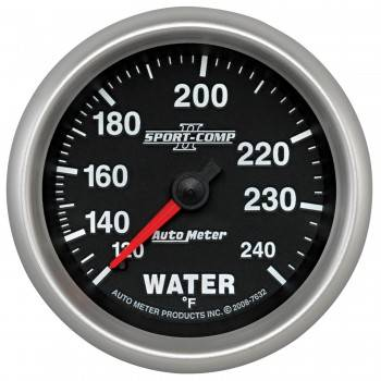 """Auto Meter - Auto Meter 2-5/8"""" Sport Comp II Water Temp Gauge - 120-240°"""