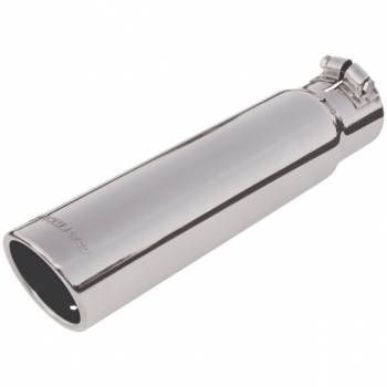 "Flowmaster - Flowmaster Stainless Steel Exhaust Tip - 3"" Outlet x 2.5"" Inlet x 12"" Length"
