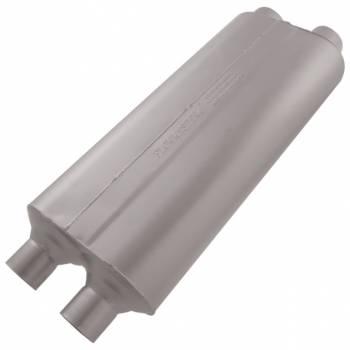 """Flowmaster - Flowmaster 70 Series Big Block II Muffler - 2.25"""" Dual Inlet/2.25"""" Dual Outlet"""