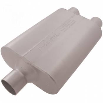 "Flowmaster - Flowmaster 40 Series Delta Flow Muffler - 2.25"" Offset - Inlet / Dual Outlet"