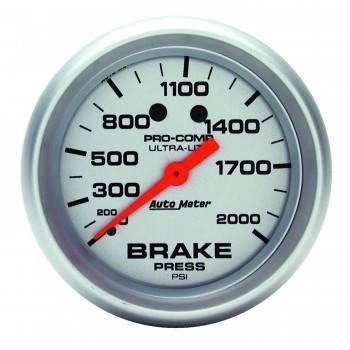 "Auto Meter - Auto Meter Ultra-Lite Brake Pressure Gauge - 2-5/8"" - 0-2,000 PSI"