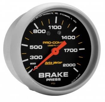 "Auto Meter - Auto Meter Pro-Comp Liquid Filled Pressure Gauge - 2-5/8"" - 0-400 PSI"