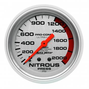 Auto Meter - Auto Meter Ultra-Lite Mechanical Nitrous Pressure Gauge - 2-5/8 in.