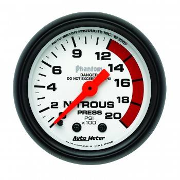 Auto Meter - Auto Meter Phantom Mechanical Nitrous Pressure Gauge - 2-1/16 in.