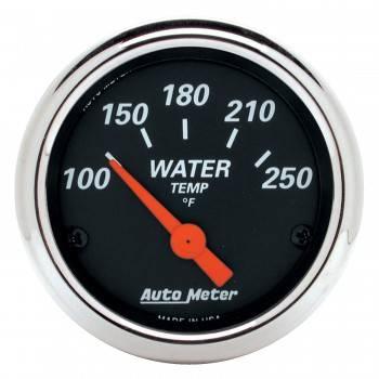"""Auto Meter - Auto Meter Designer Black Water Temperature Gauge - 2-1/16"""""""