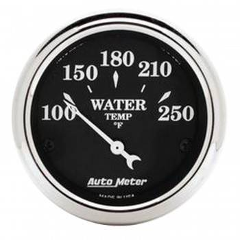 Auto Meter - Auto Meter Old Tyme Black Water Temperature Gauge - 2-1/16""