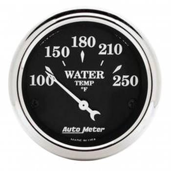 "Auto Meter - Auto Meter Old Tyme Black Water Temperature Gauge - 2-1/16"""