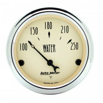 Auto Meter - Auto Meter Antique Beige Water Temperature Gauge - 2-1/16""