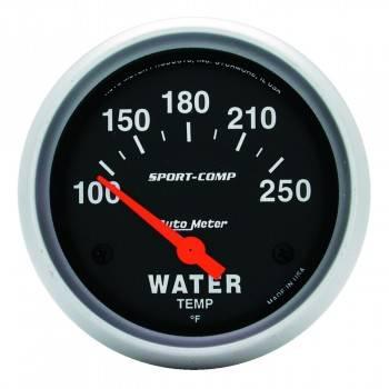 """Auto Meter - Auto Meter Sport-Comp Electric Water Temperature Gauge - 2-5/8"""" - 100°-250°"""