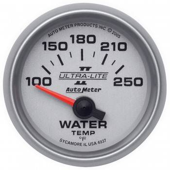 "Auto Meter - Auto Meter 2-1/16"" Ultra-Lite II Electric Water Temperature Gauge - 100-250°"