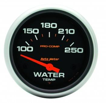 "Auto Meter - Auto Meter Pro-Comp Electric Water Temperature Gauge - 2-5/8"" - 100°-250°"
