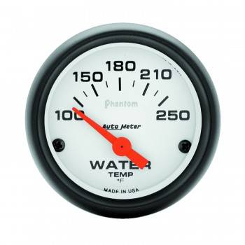 "Auto Meter - Auto Meter Phantom Electric Water Temperature Gauge - 2-1/16"" - 100°-250°"