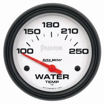 "Auto Meter - Auto Meter Phantom Electric Water Temperature Gauge - 2-5/8"" - 100°-250°"