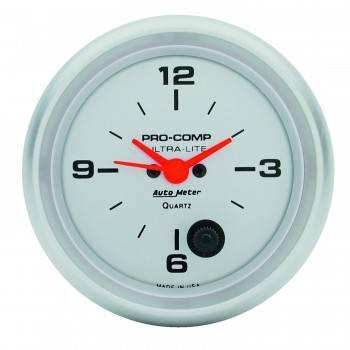 Auto Meter - Auto Meter Ultra-Lite Clock - 2-5/8 in.