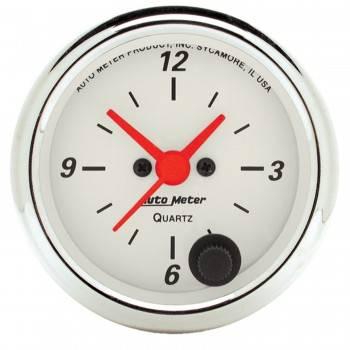 Auto Meter - Auto Meter Arctic White Clock - 2-1/16 in.