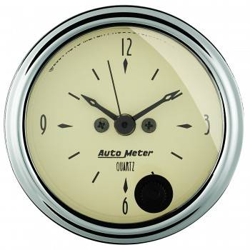 Auto Meter - Auto Meter Antique Beige Clock - 2-1/16 in.