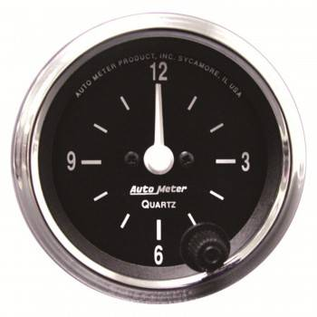 Auto Meter - Auto Meter 2-1/16 12-Volt Electric Clock - Black